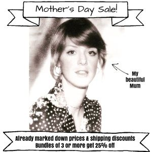 Mother's Day Sale! Ends Sunday at midnight!